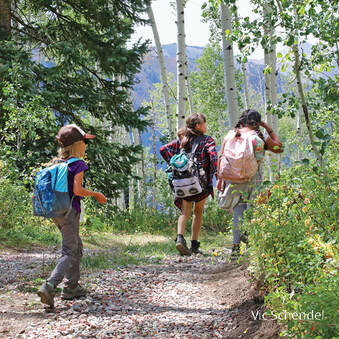 Students at Marble Basecamp outdoor education program
